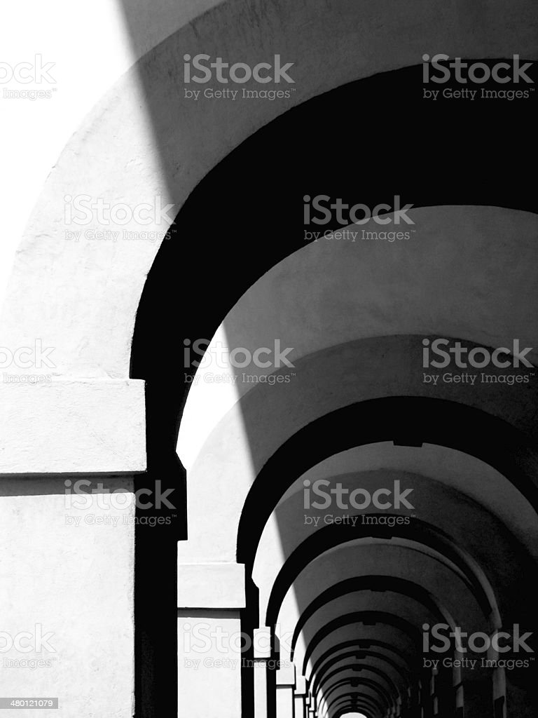 Ancient Arch Tunnel stock photo