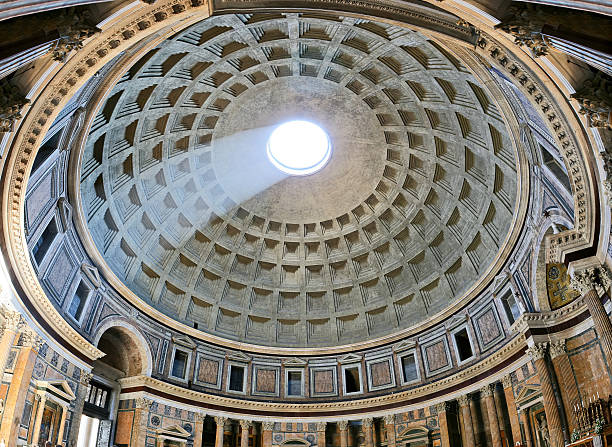 Arquitectura antigua obra de arte del panteón en Roma, Italia - foto de stock