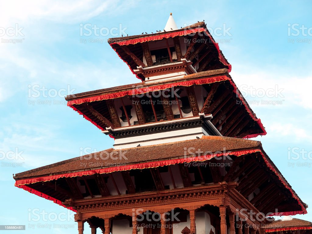 Ancient architecture in Bhaktapur, Nepal. royalty-free stock photo