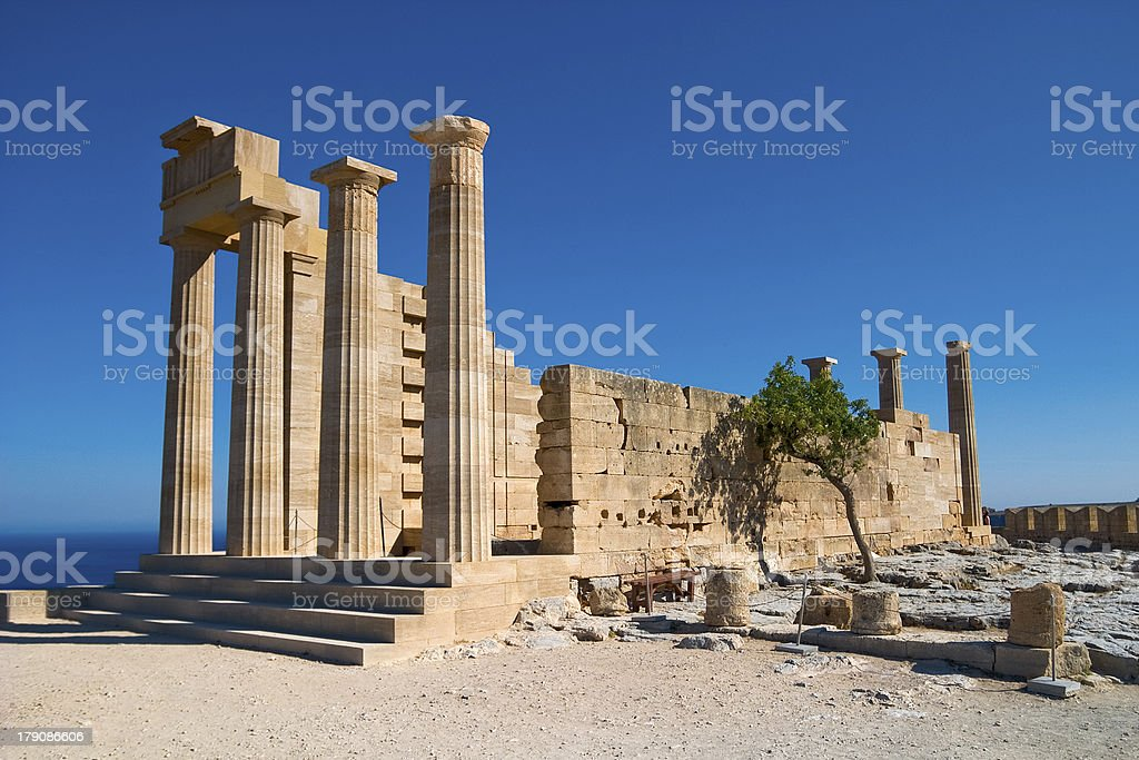 Ancient architecture of Greece royalty-free stock photo