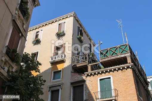 istock Ancient architecture of historic center in Venice, San Marco. Italy 923233546