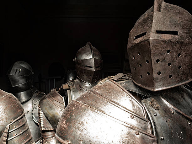 ancient armor of knights - the crusades stock photos and pictures