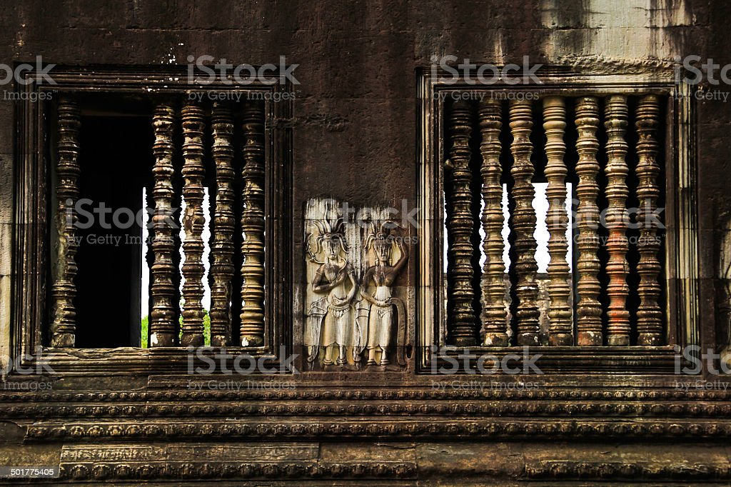ancient art and heritage of the world. In Cambodia. stock photo