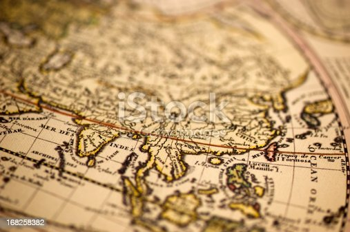 istock Ancient Asia World Map 168258382