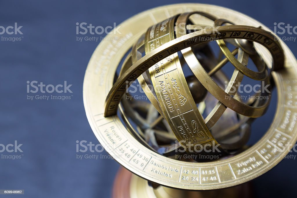 Ancient Astrolabe Sagittarius Stock Photo & More Pictures of