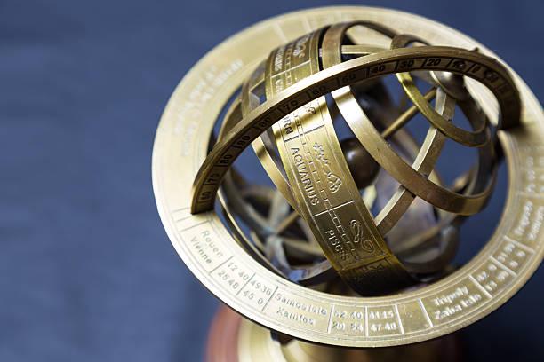 Ancient astrolabe - Sagittarius - foto stock