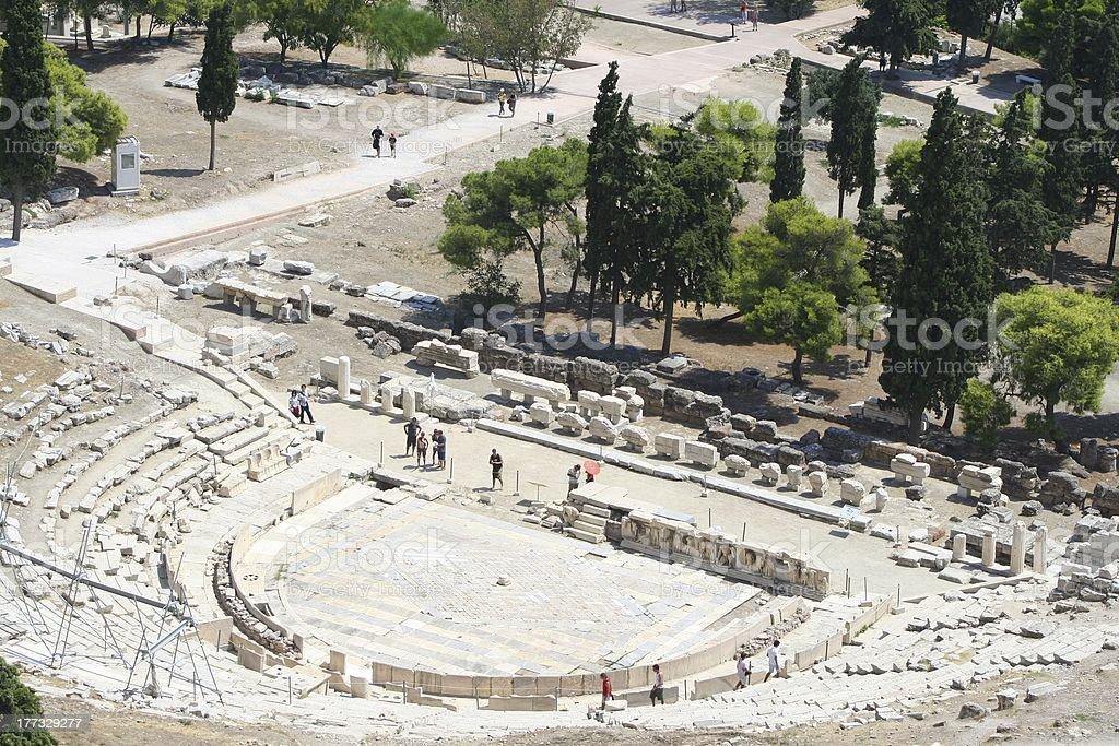 ancient athens stock photo