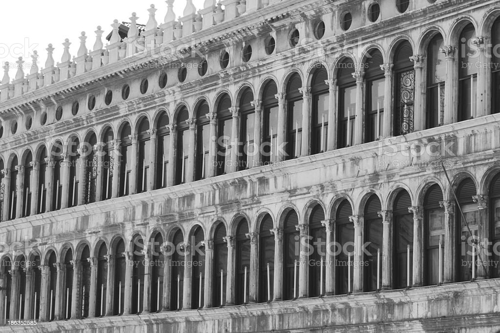 ancient balcony in Venetian style royalty-free stock photo