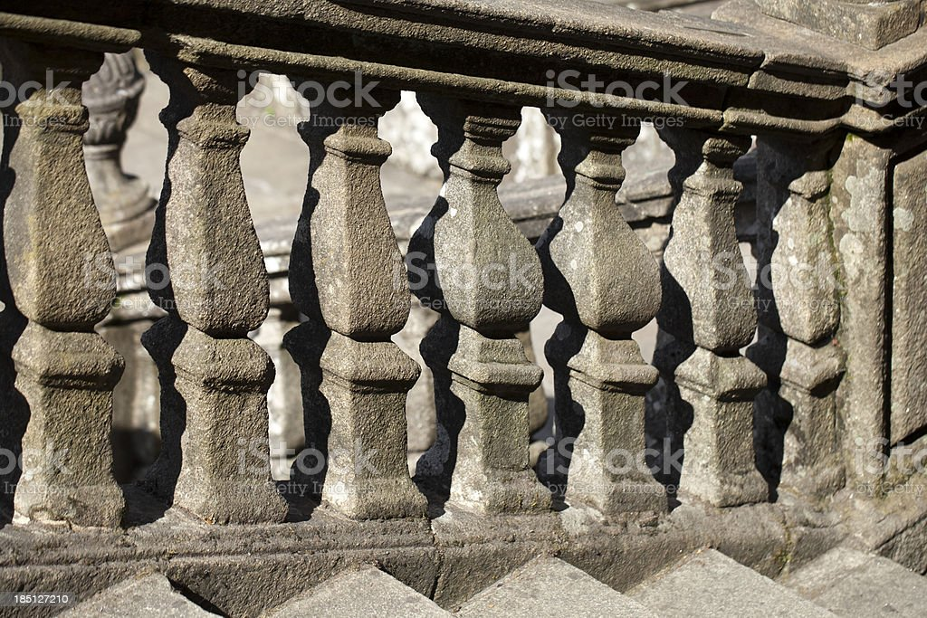 Ancient banister royalty-free stock photo