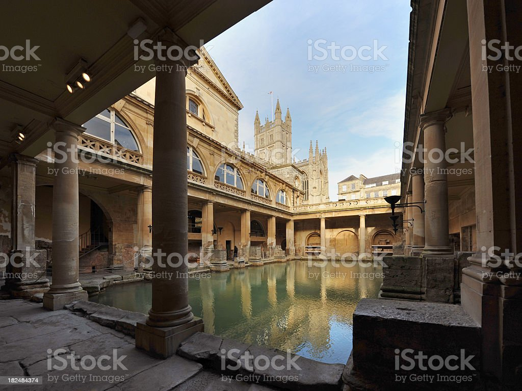 Ancient Baths stock photo