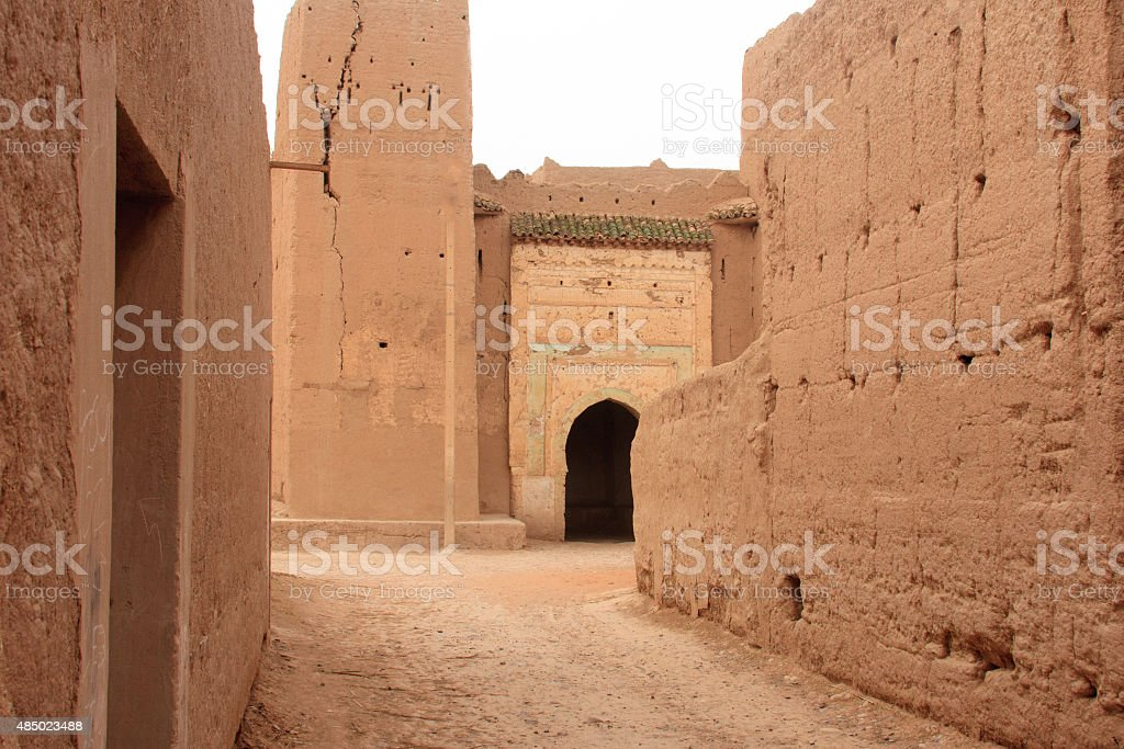 Ancient Berber Village: Ksar El Fida, Rissani, Morocco stock photo
