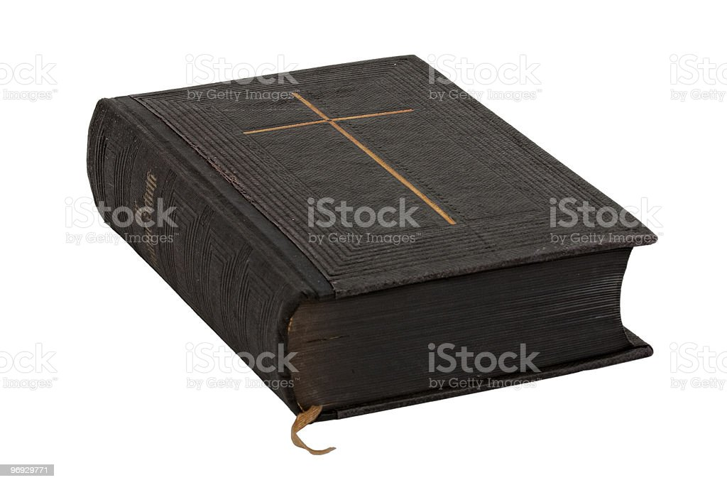 Ancient bible royalty-free stock photo