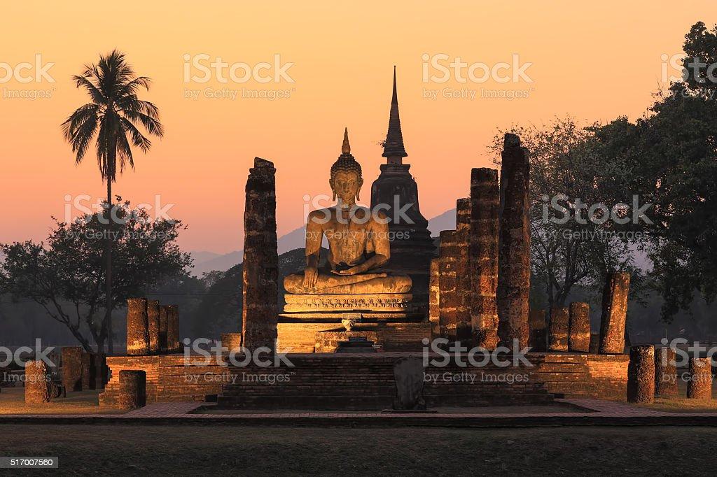 Ancient  big buddha image stock photo