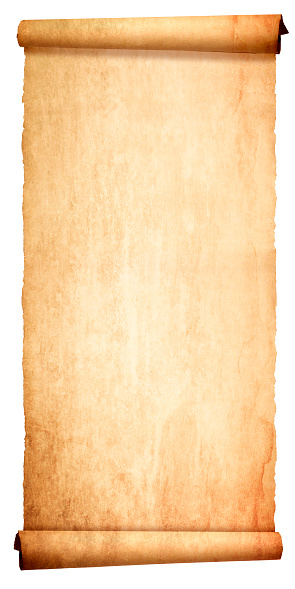 Ancient Blank Scroll Isolated On White Background Stock ...