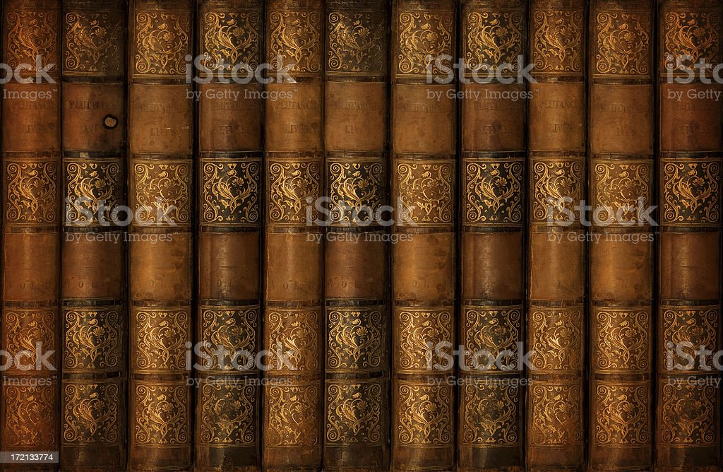 Ancient Book Back royalty-free stock photo