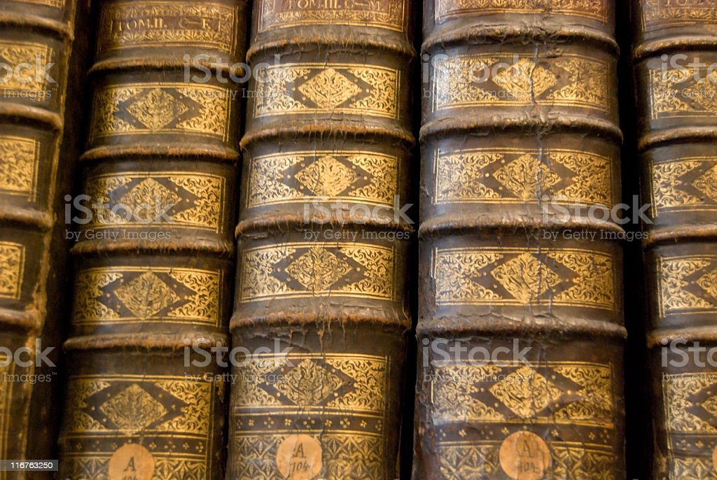 Ancient Book Binding royalty-free stock photo