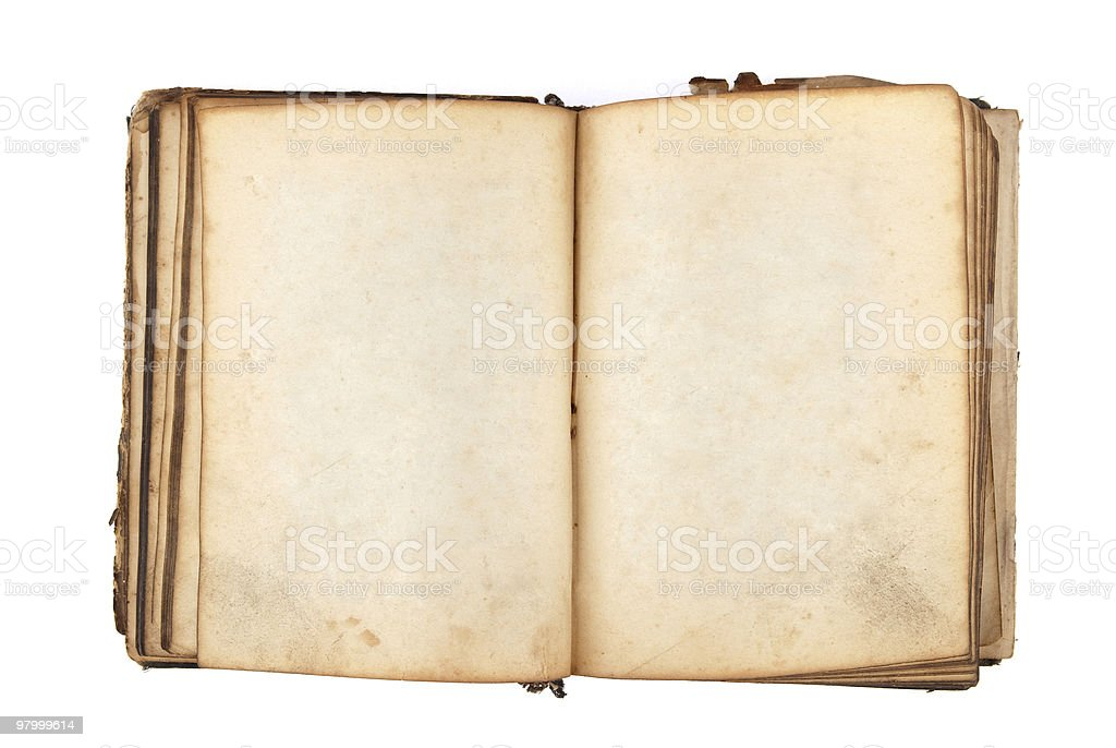 ancient book with blank pages royalty free stockfoto