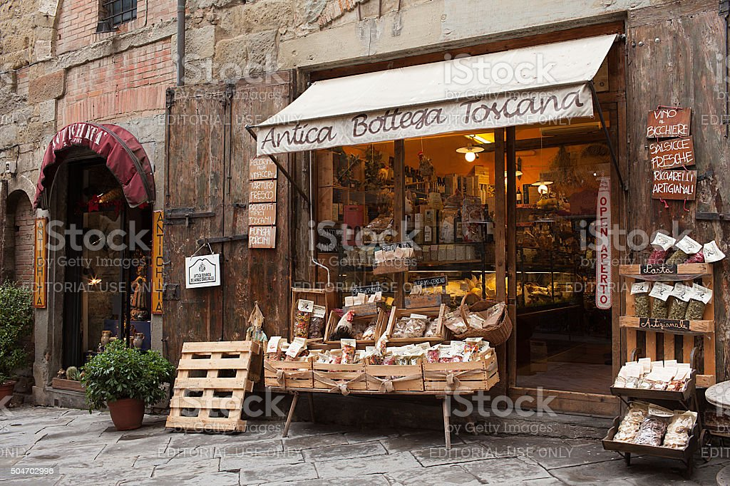 Antica Bottega Toscana Arezzo Italy stock photo