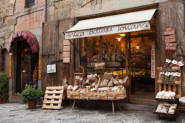 Antica Bottega Toscana Arezzo Italy stock photo