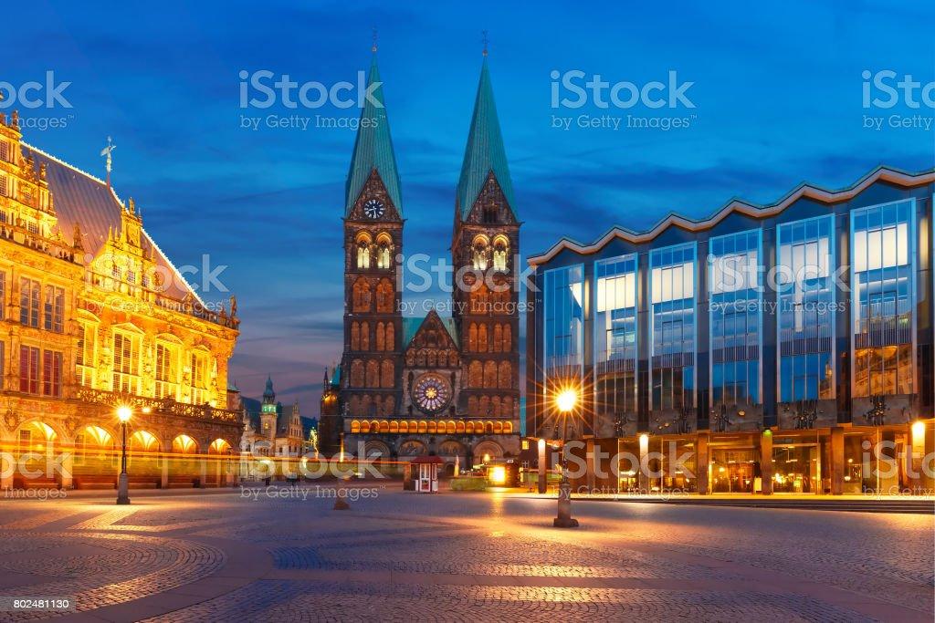 Alte Bremer Marktplatz in Bremen, Deutschland – Foto