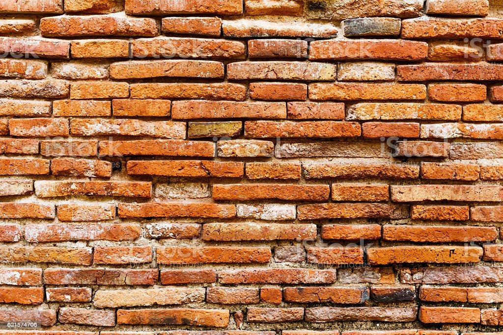 Ancient brick wall in red color photo libre de droits
