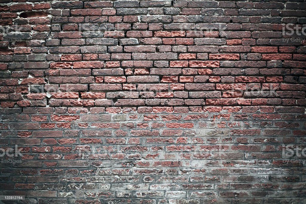 Ancient brick wall royalty-free stock photo