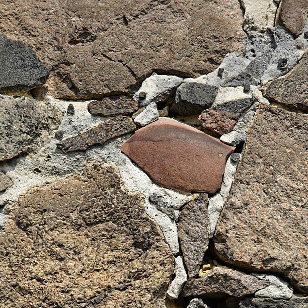 Alte Mauerwerk mit Kopfsteinpflaster – Foto