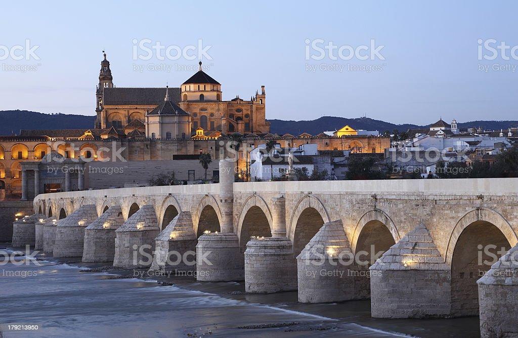 Ancient bridge in Cordoba, Spain royalty-free stock photo