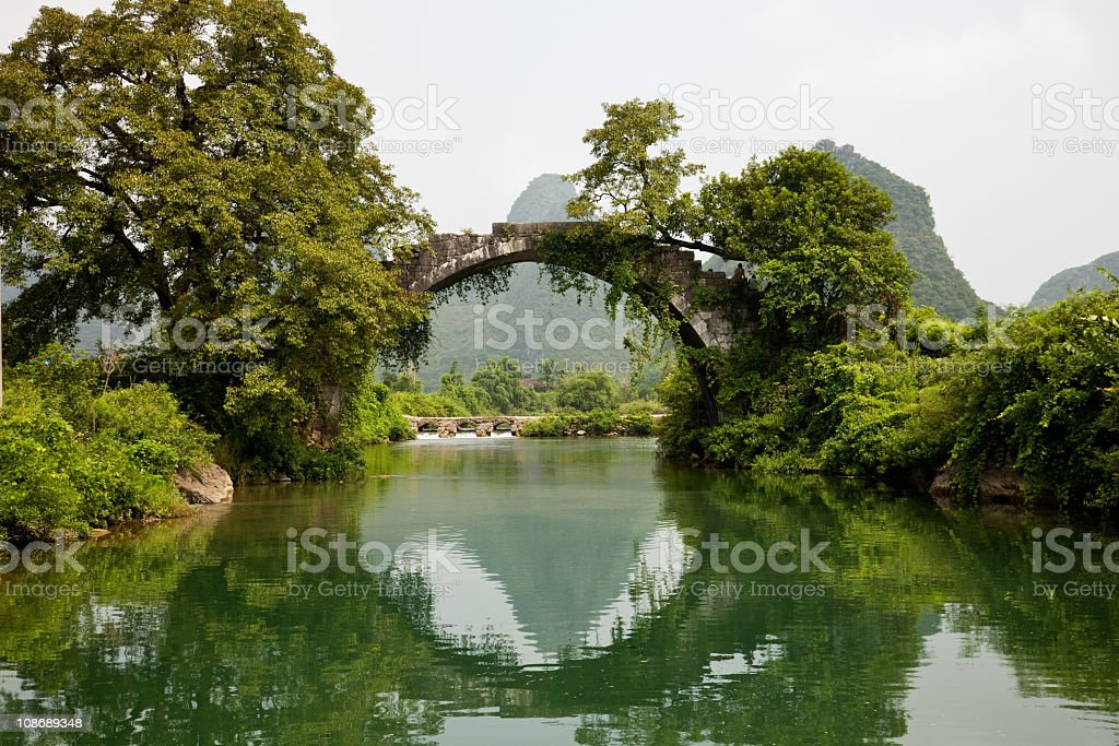ancient bridge in Guilin royalty-free stock photo