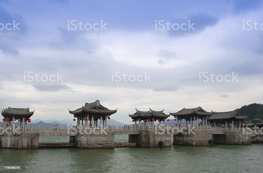 Ancient bridges in China stock photo