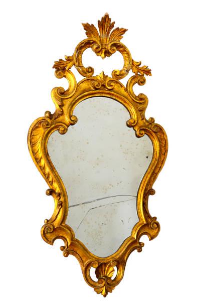alten zerbrochenen spiegel ausschneiden - alte spiegel stock-fotos und bilder