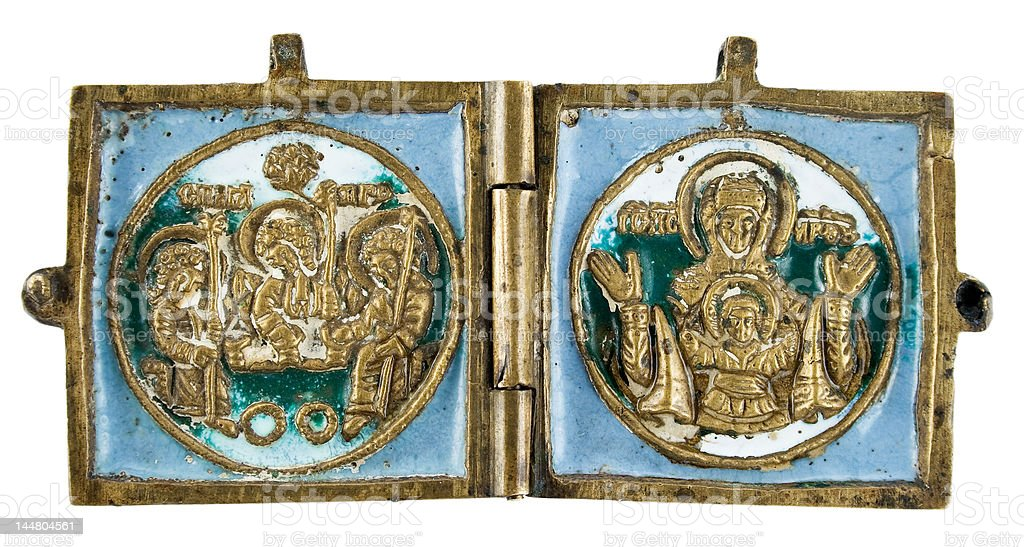Ancient bronze talisman royalty-free stock photo