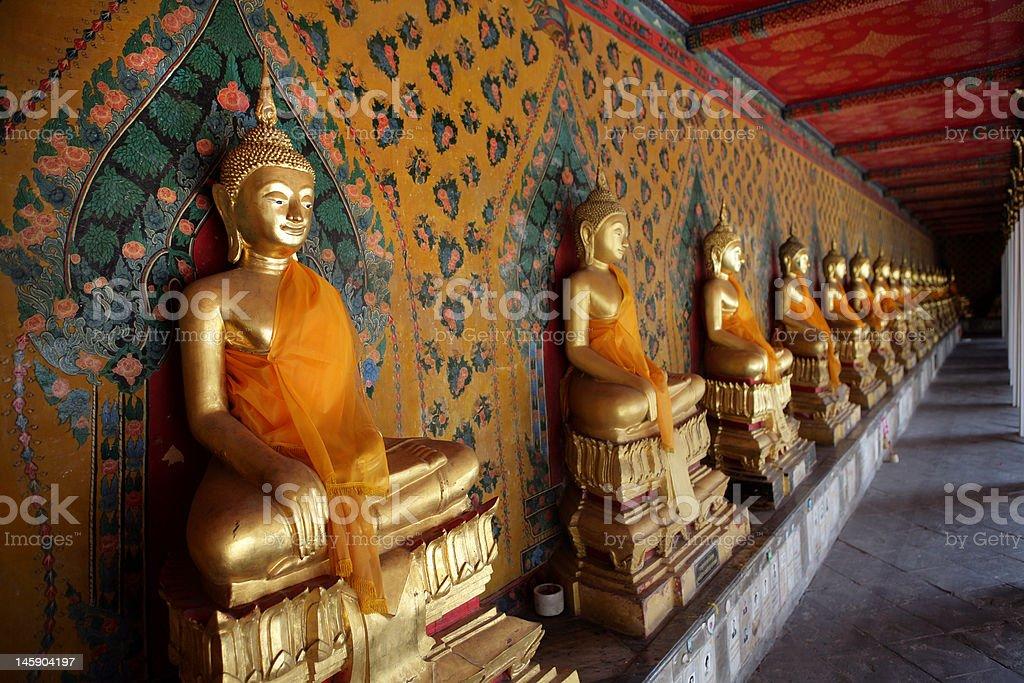 Ancient buddha images. Wat Arun temple. Bangkok. Thailand. royalty-free stock photo