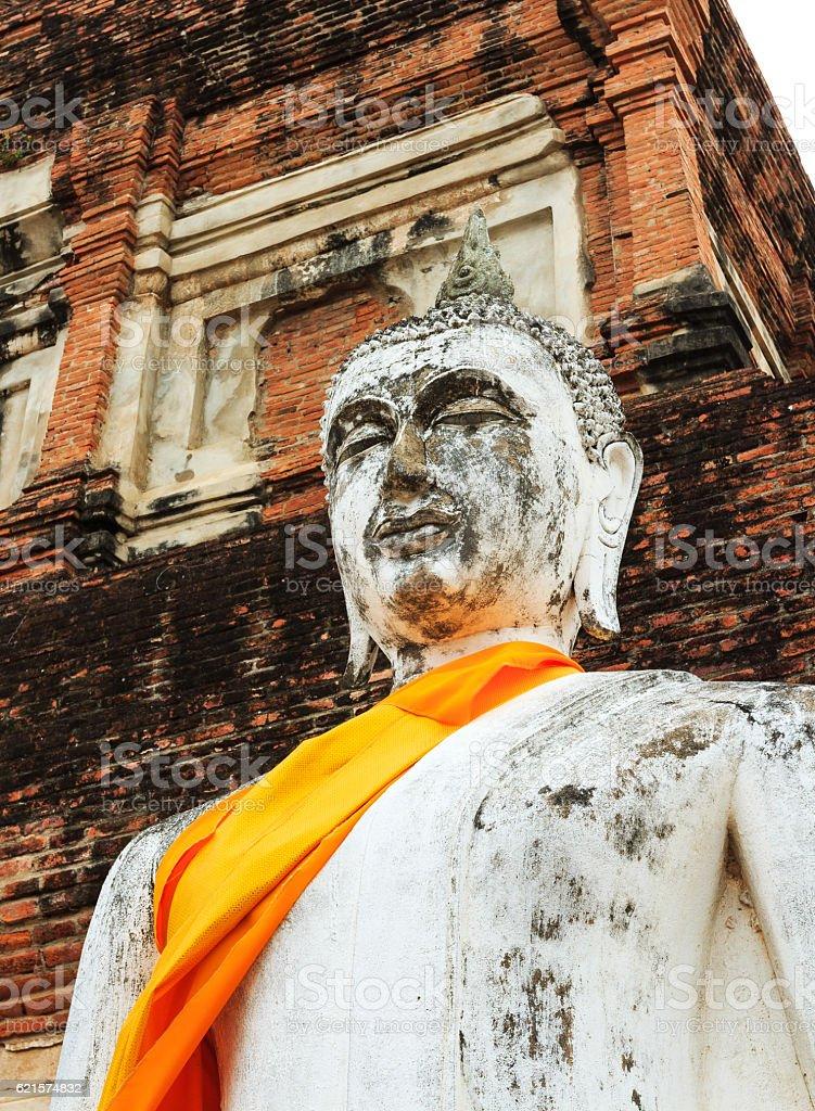 Ancienne d'Ayuthaya Bouddha, Thaïlande photo libre de droits