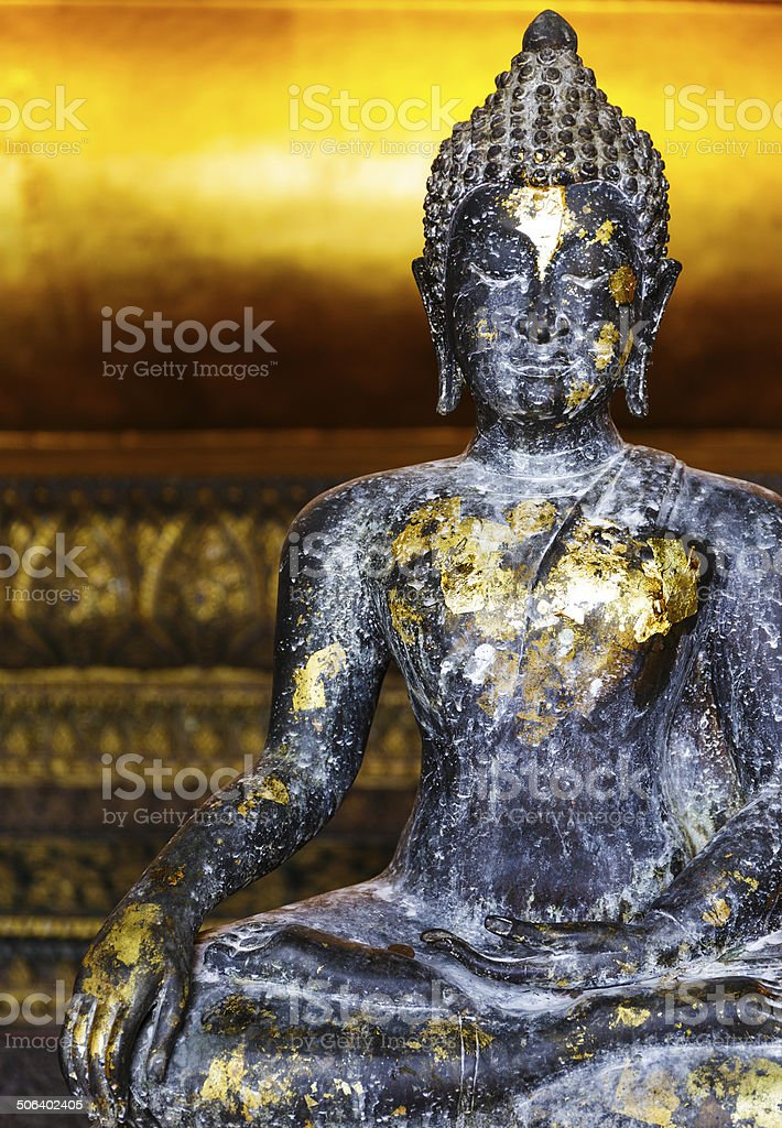 Ancient Buddha in Thailand royalty-free stock photo