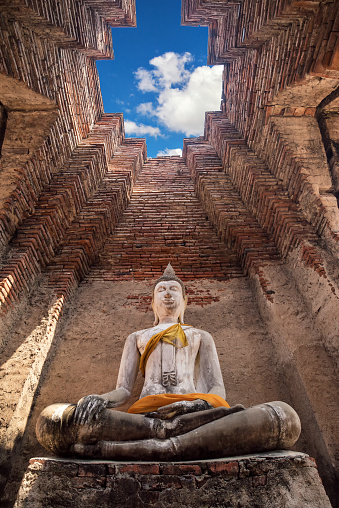 Ancient Buddha Statue In Old Temple Ayutthaya Historical National Park Thailand Stock Photo - Download Image Now