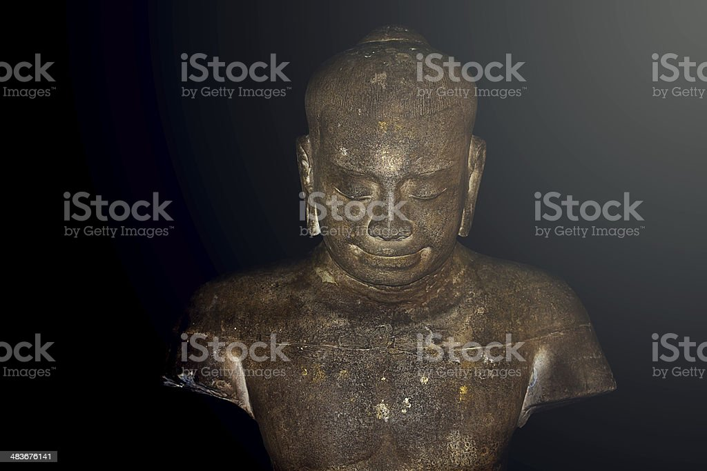 Ancient buddha statue in pagoda royalty-free stock photo