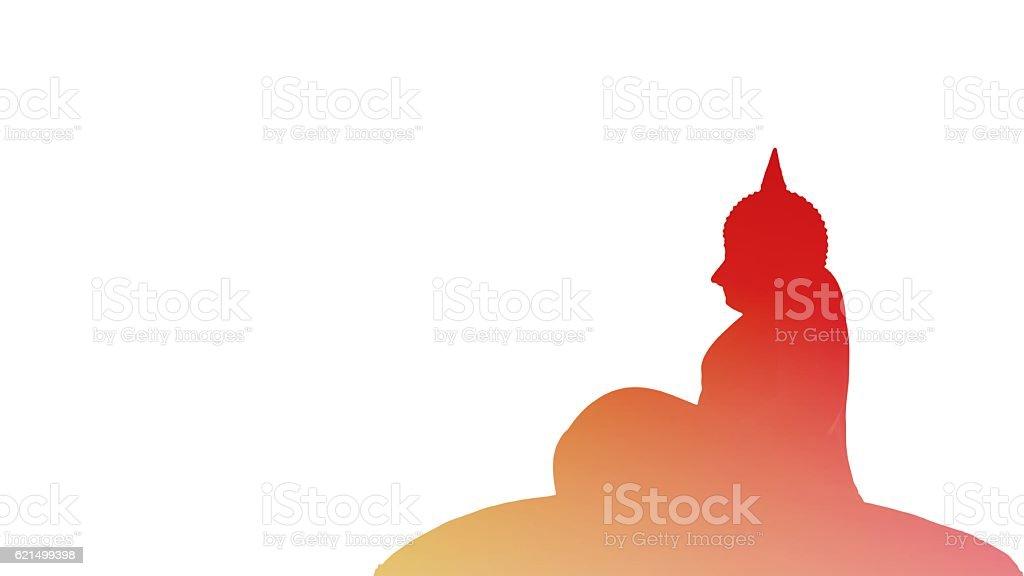 Antica Statua del buddha  foto stock royalty-free