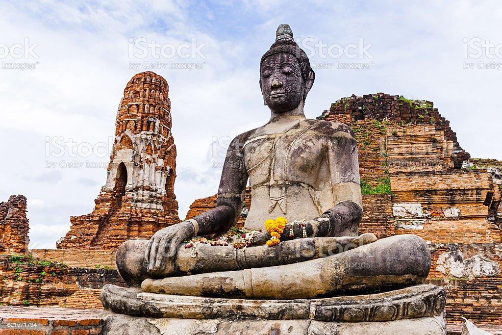 Ancienne statue de Bouddha  photo libre de droits