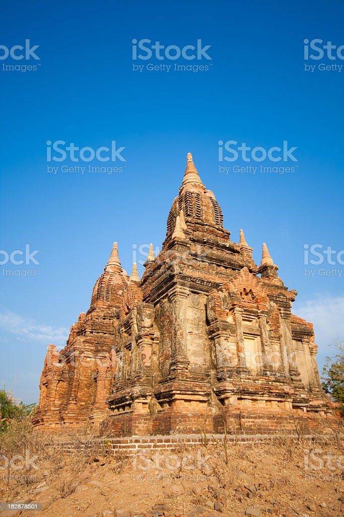Ancient Buddhist Pagoda in Bagan, Myanmar (Burma) royalty-free stock photo