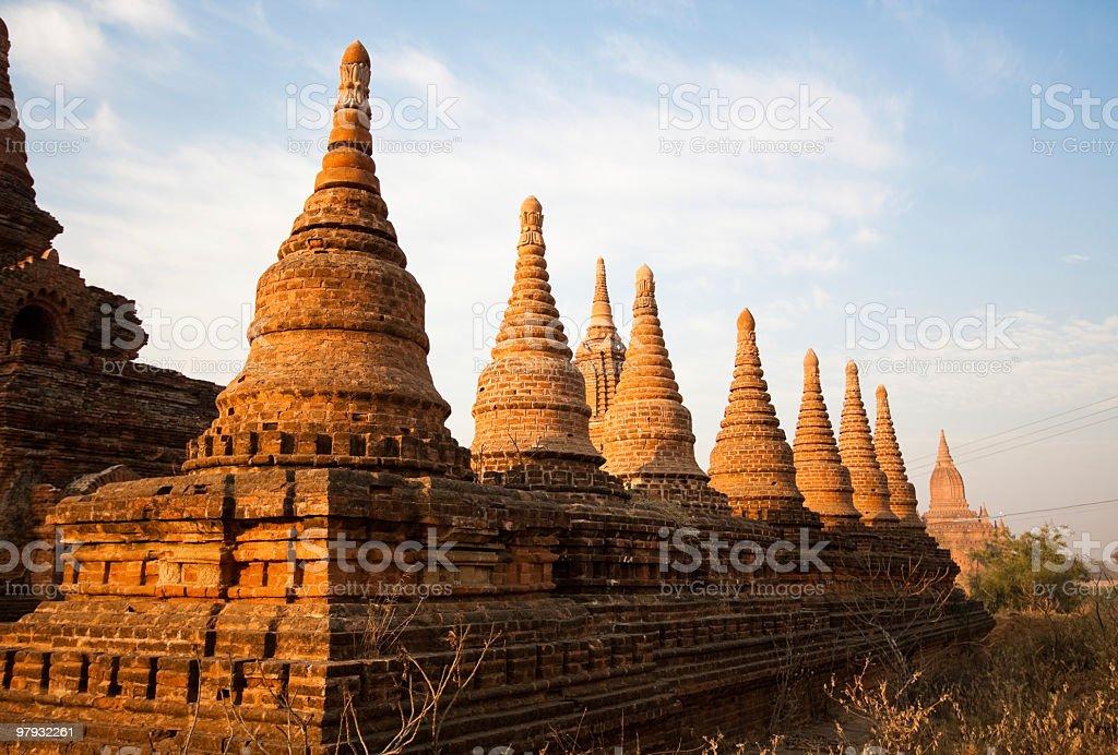 Ancient Buddhist Pagoda in Bagan, Myanmar (Burma) travel destination royalty-free stock photo