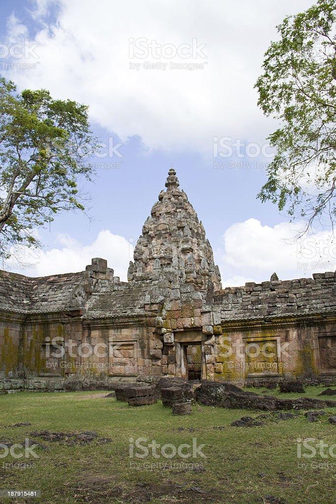 Ancient buddhist temple in koa panomrung, Thailand royalty-free stock photo