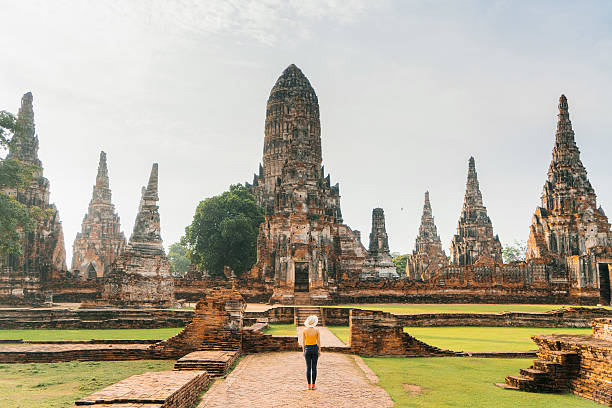 Ancient Buddhist Temple stock photo
