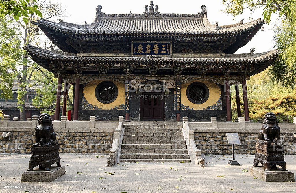 Ancient Buddhist Theatre in Shanxi China royalty-free stock photo