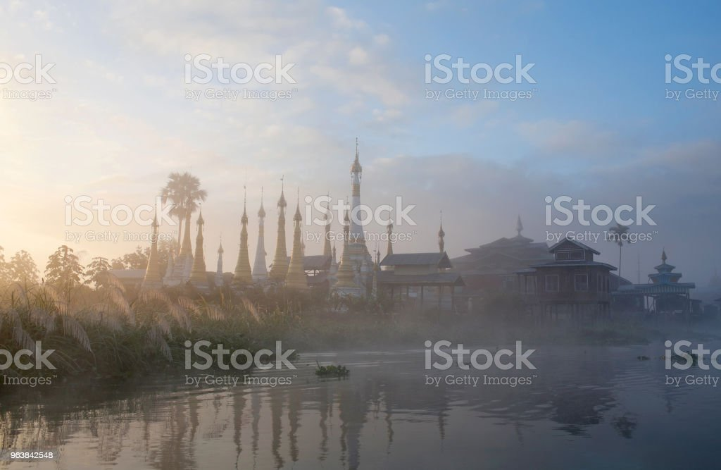 Ancient buddhists monastery on Inle lake in Shan state, Myanmar - Royalty-free Ancient Stock Photo
