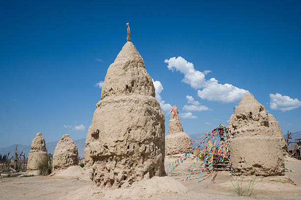 Ancient Building in ningxia stock photo