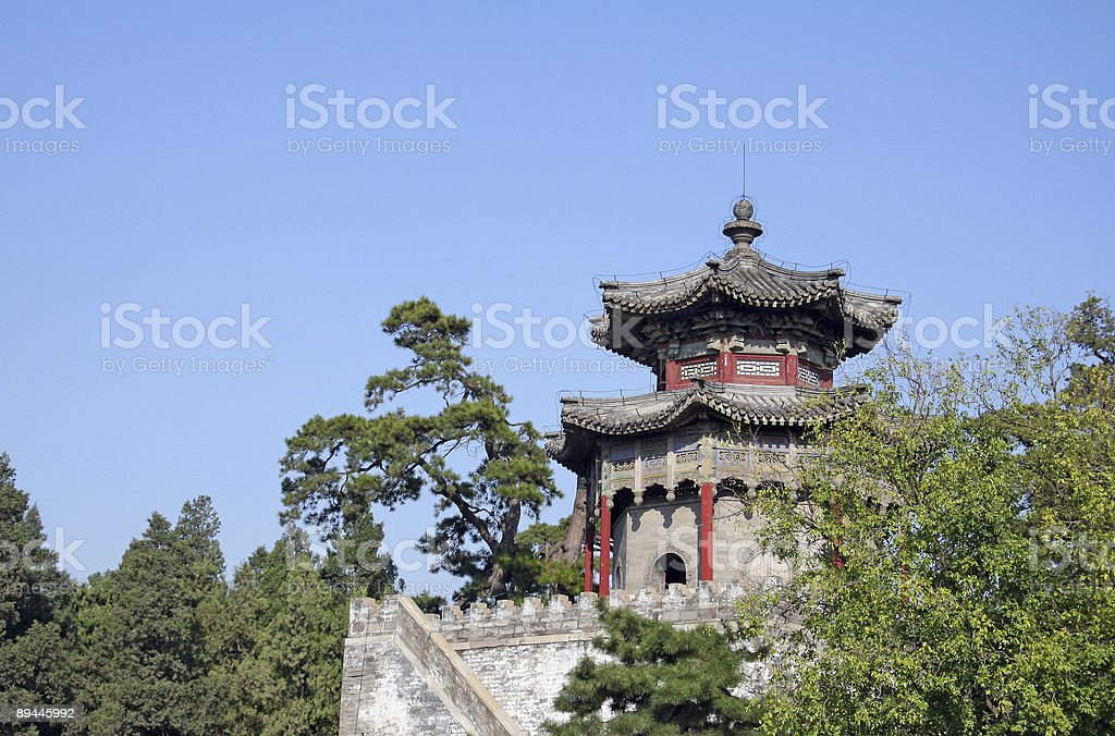 Ancient building of Summer Palace royalty-free stock photo