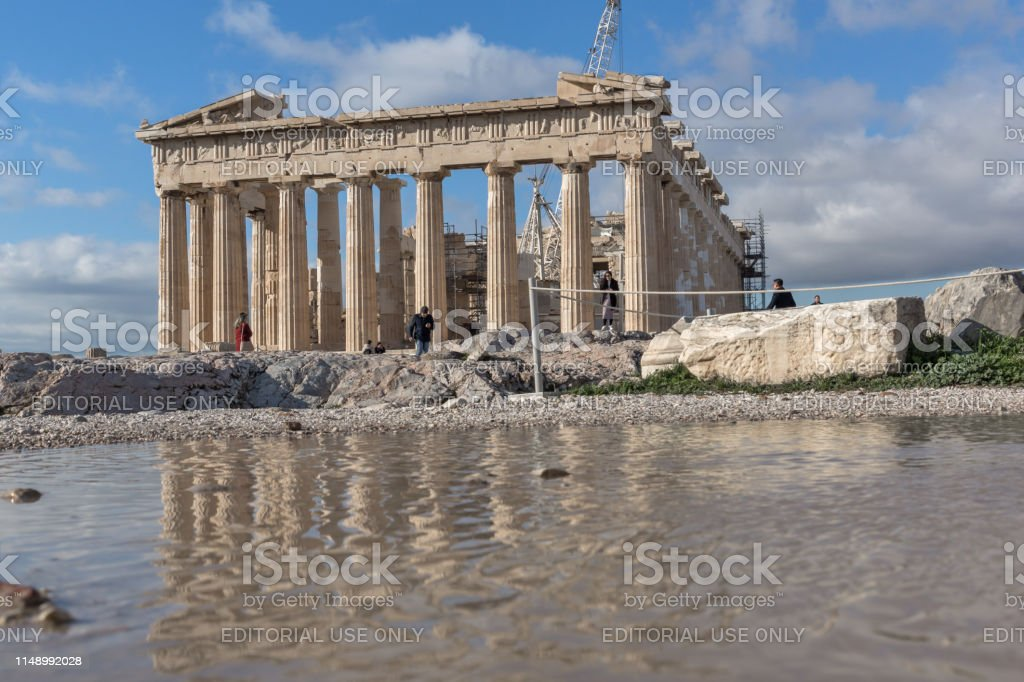 Ancient Building Of The Parthenon In The Acropolis Of Athens