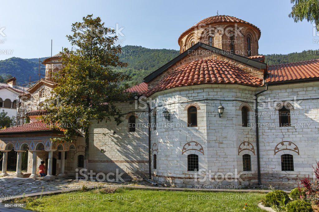 Ancient Buildings in Medieval Bachkovo Monastery, Bulgaria royalty-free stock photo