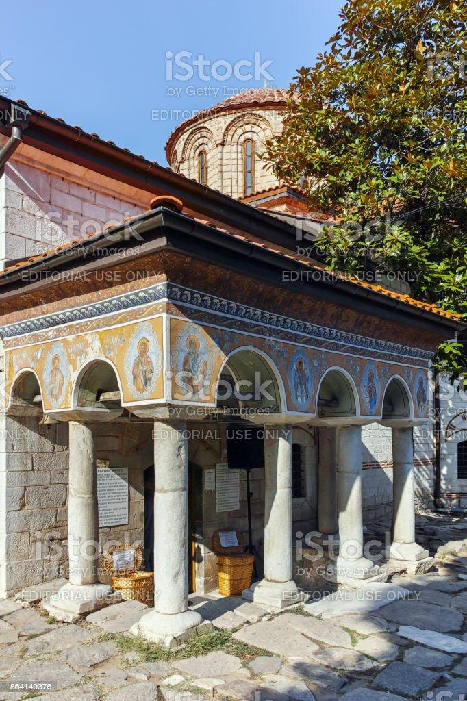 Ancient Buildings in Medieval Bachkovo Monastery, Bulgaria royalty-free stock photo